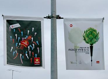 04D Banderoles fanals dobles doble cara serigrafia