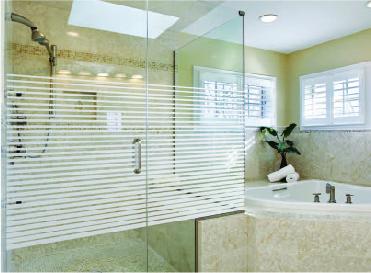 06A Làmina decorativa vinil vidre bany