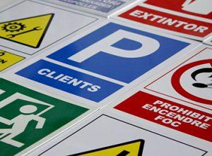 07A senyalització industrial PVC perill obligació prohibició