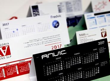 09A Calendaris sobretaula PVC