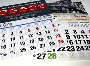 09B Calendari paret cartró offset serigrafia
