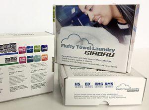 17G Embalatge packaging caixa cartró tovallola