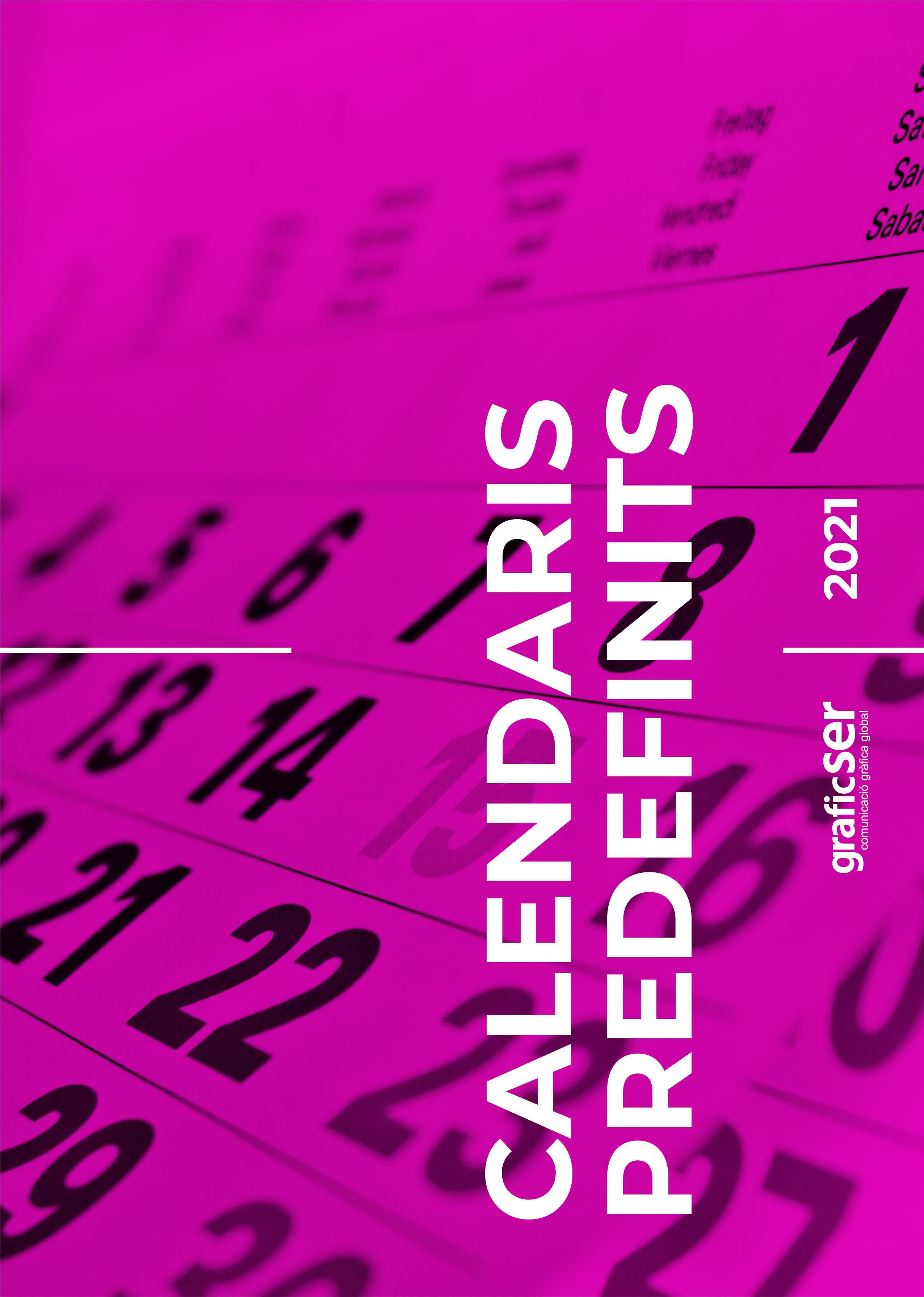 PORTADES CATÀLEGS 2021 CALENDARIS PREDEFINITS