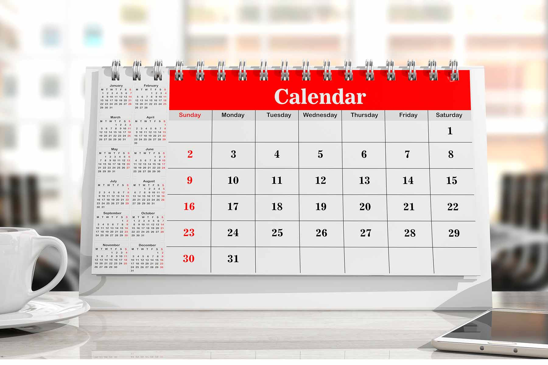 calendario sobremesa personalizado GRAFICSER