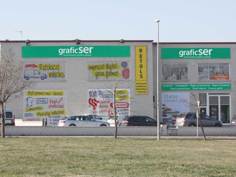 façana Graficser material publicitario para eventos