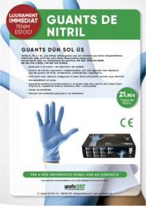 GUANTS DE NITRIL PROTECTORS SEGURETAT COVID 19 1