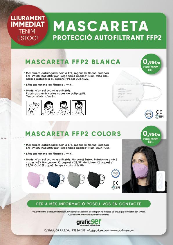 MASCARETES FFP2 PROTECTORES SEGURETAT COVID 19 1