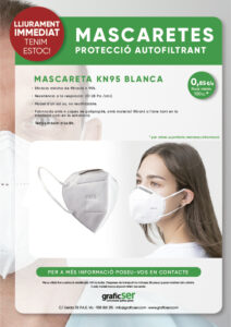 MASCARETES KN95 PROTECTORES SEGURETAT COVID 19 1