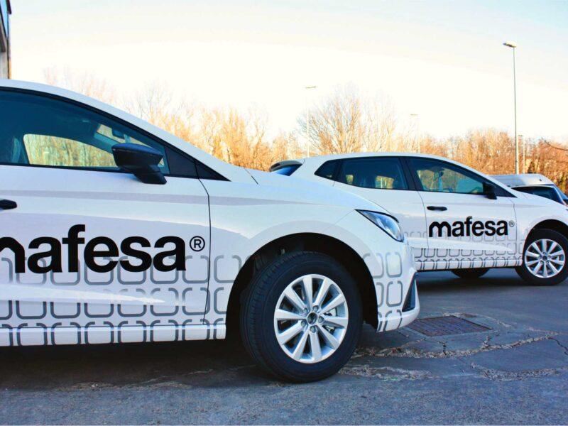 rotulación de coches para marca corporativa mafesa