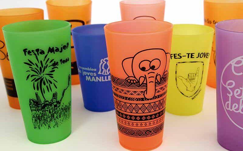Impresion de vasos reutilizables para fiestas y eventos